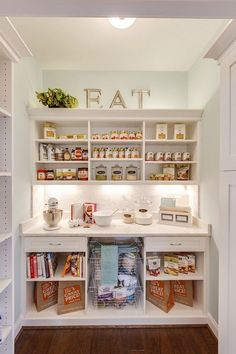 Organized Kitchen Pantry Ideas - The Idea Room Is your Kitchen Pantry in need of a major makeover? Today, I will be sharing some Organized Kitchen Pantry Ideas to help get you inspired to start putting together your perfectly organized pan! Ikea Pantry, Kitchen Organization Pantry, Pantry Storage, Kitchen Storage, Organized Kitchen, Bedroom Storage, Wall Pantry, Pantry Shelving, Kitchen Pantry Design