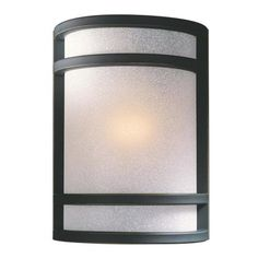 "Bronze With French Scavo Glass 9 1/2"" High Wall Sconce - #64151 