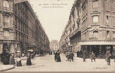 La rue Saint-Sulpice vue depuis la rue de Rennes, vers 1900  (Paris 6ème)