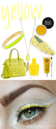 Color Crush: #Yellow Eye Makeup #EOTD #eyes