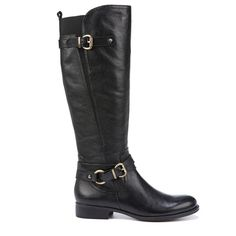 Naturalizer Women's Jodee Wide Calf Riding Boots (Black Leather)