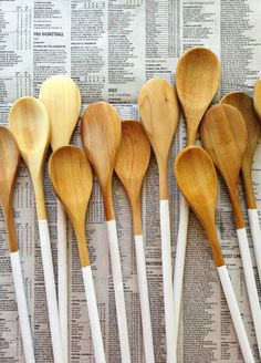 DIY Painted Wooden Spoons // Feast + West