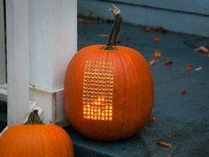 Tetris Pumpkin...might want to start on this now for next year!