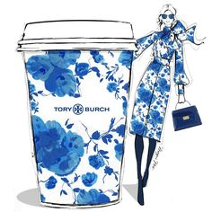 """4,989 Likes, 57 Comments - Megan Hess (@meganhess_official) on Instagram: """"Today I'm dreaming of a giant TORY BURCH coffee! I want to be dressed in her beautiful prints from…"""""""