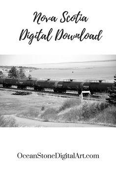 Train Art, Cape Breton, Digital Download, Train Print, Nova Scotia, Train Pictures, Digital Art, Train Track, Instant Download Printable Art