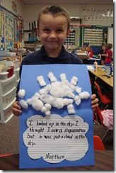 Weather Unit - writing activity (What do you see in the clouds?)