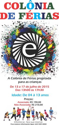Colônia de Férias é no Clube de Engenharia de Goiás!