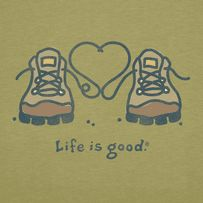 Women's Lace Heart Boots Short sleeve Crusher Tee | Hiking Tee Shirts | Life is good