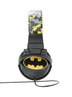 DC Comics Batman Logo Print Headphones