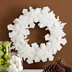 White snowflake wreath