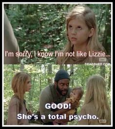 The walking dead lizzie psycho