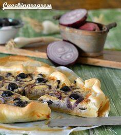 Quiche tonno, olive e cipolle