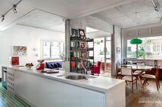 Parque das Hortênsias / • sub estúdio • #estar #cozinha #living #kitchen #concrete
