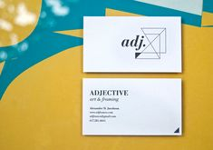 business cards // Adjective Art & Framing