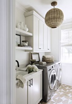 Laundry Craft Rooms, Laundry Room Bathroom, Master Bathroom, Ashley Martin, Martin S, Family Room, Home And Family, Transitional Style, Green Cabinets