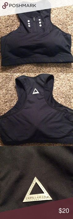 Labella Mafia sports bra Labella mafia sports bra medium black padded excellent condition labella mafia Tops Tank Tops