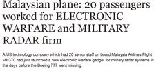 """Malaysian plane: 20 passengers worked for ELECTRONIC WARFARE and MILITARY RADAR firm """"Freescale's spokesman Mitch Haws has said: """"These were all people with a lot of experience and technical background and they were very important people.   """"It's definitely a loss for the company."""""""