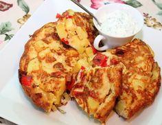 Nic prostszego na wykorzystanie podstawowych składników jak jajka i ziemniaki. Medium Recipe, Feta, Cauliflower, French Toast, Vegetables, Breakfast, Recipes, Polish, Al Dente