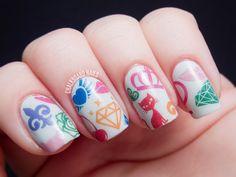 nail tattoos. Love the designs!