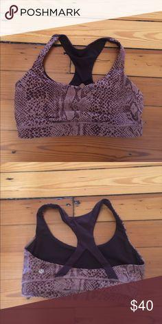 Size 6 Lululemon Sportsbra brand new, gently used. can't find anymore!!! a really pretty purple lululemon athletica Intimates & Sleepwear Bras