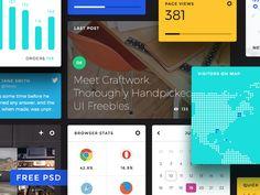Free Dashboard UI Elements PSD by Craftwork