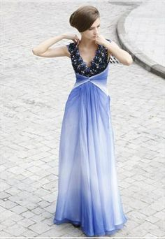 Low V-neck Lining Beaded Dancing Dress Cocktail Dress 80320