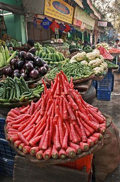 Market in Old Delhi India