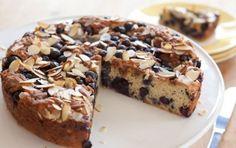 Blueberry Coffee Cake w/ greek yogurt (150 calories per serving)