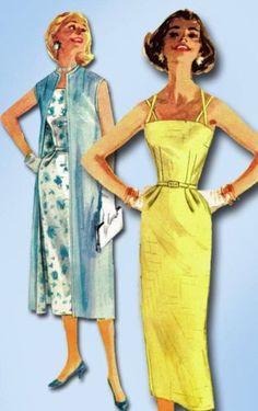 1950s Original Gorgeous Unused Wiggle Dress Coat Pattern Sz 32 B | eBay
