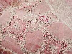 gorgeous antique pink lace