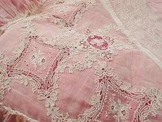 gorgeous antique pink lace