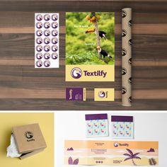 Ideas geniales con súper marcas. Así es Textilfy. #clientes #trabajos  #branding #packaging, #ilustraciones #animaciones