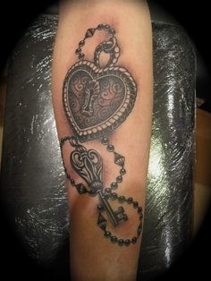 Heart lock skeleton key