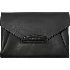GIVENCHY Black Leather Clutch bag Antigona