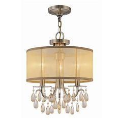 $319.00 Modern Glam Shaded Crystal Chandelier at Shades of Light