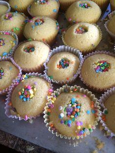 Sprinkle filled Easter cupcakes