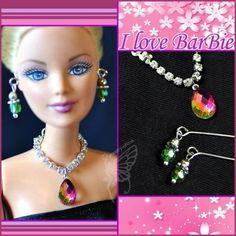 Handmade Barbie Doll Jewelry Set Necklace Earrings for Barbie Dolls for sale online Barbie Dolls For Sale, Barbie Accessories, Barbie House, Doll Shoes, Pebble Art, Barbie Clothes, Collar, Handmade Christmas, Fashion Dolls