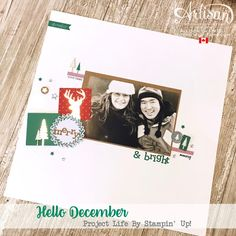 nice people STAMP!: Hello December Project Life by Stampin' Up! Scrapbook Page