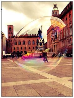 "Memories from #NotteBiancaTw ""Bologna. Umarell in the bubble"", province of Bologna, Emilia Romagna"