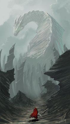 Dark Fantasy Art, Fantasy Concept Art, Fantasy Artwork, Mythical Creatures Art, Mythological Creatures, Fantasy Creatures, Fantasy Places, Fantasy World, Dragon Artwork