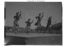 Record Number: GMC-3-14-18   Title: Braemar Gathering. Boys doing Highland dancing.   Collection: G M Cowie   Image Type: 1/4 plate glass negative   Originator: George Middlemass Cowie   Location: Aberdeenshire, Scotland   Date: [8 September] 1938