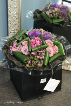 Sectioned Hand Tied by Tempting Tulips . Jane Packer Style