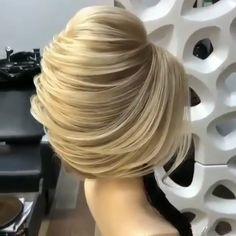 Updos For Medium Length Hair, Easy Hairstyles For Long Hair, Pretty Hairstyles, Wedding Hairstyles, Blond, Hair Blog, Crazy Hair, Balayage Hair, Amazing Hair