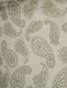 RTC Fabrics green paisley on tan background by BlueCraneQuiltShop,