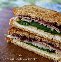 Grilled Turkey and Goat Cheese Sandwich | #christmas #xmas #holiday #food #christmasinjuly