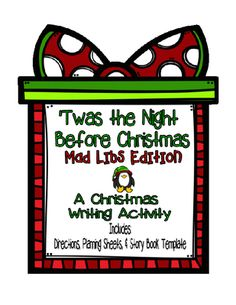 Twas the night before the christmas mad libs edition from keep calm