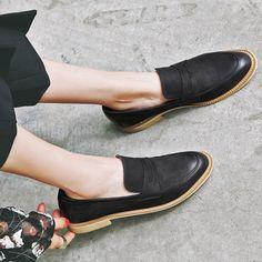 Chiko Mushira Round Toe Block Heel Loafers