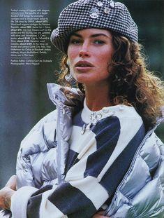 British Vogue 1989 feat Carre Otis