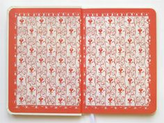 Love this endpaper. 1905, A Flower Wedding, reprinted by the Victoria and Albert Museum