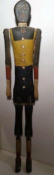 Antique Early Black Americana Dancing Jigger Doll Wood Folk Art RARE Collectible | eBay